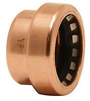 Plumbsure Push fit End cap (Dia)22mm