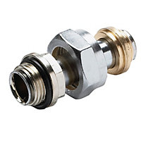 Plumbsure Threaded Radiator connector (Dia)22mm