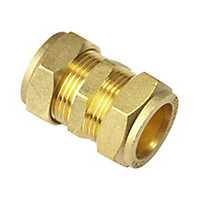 Plumbsure Compression Coupling (Dia)22mm, Pack of 5