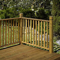 B&Q Timber Deck post (H)1.15m (W)90mm