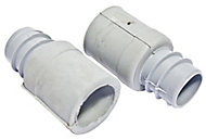 Plumbsure Rubber Stop end (Dia)22mm, Pack of 2