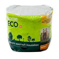 B&Q Home ECO Loft insulation roll, (L)3m (W)0.37 m (T)200mm