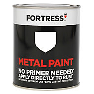 Fortress White Satin Metal paint, 0.25L