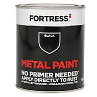 Fortress Black Satin Metal paint, 0.75L