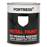 Fortress White Satin Metal paint 750 ml