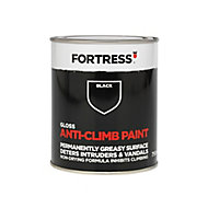 Fortress Black Gloss Anti-climb paint, 0.75L