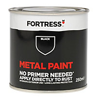 Fortress Black Gloss Metal paint 250 ml