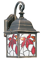 Bindi Fixed Multicolour Antique bronze effect Mains-powered Incandescent Outdoor Wall light