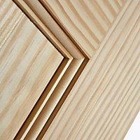 Vertical 2 panel Clear pine LH & RH Internal Door, (H)1981mm (W)610mm