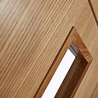 1 panel Patterned Glazed Flush Hardwood LH & RH Internal Door, (H)1981mm (W)686mm