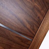5 panel Patterned Unglazed Flush LH & RH Internal Fire Door, (H)1981mm (W)838mm