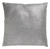 04102144 EOLIA CUSHION 50X50CM SILVER EFFECT