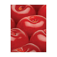 Off The Wall Creations Red Cherry Red Glass Splashback, (H)745mm (W)595mm (T)6mm