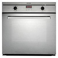 Indesit Silver & black Oven & hob pack Set