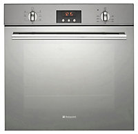 Hotpoint Silver & black Oven & hob pack Set