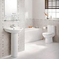 Ideal Standard Della Close-coupled toilet & full pedestal basin