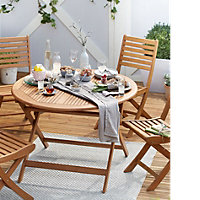 Aland Wooden 4 seater Dining set