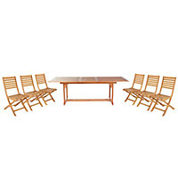 Aland Wooden 6 seater Dining set