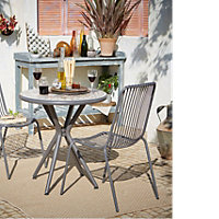 Silene Metal 2 seater Table & chair set