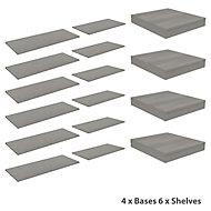 Form Oppen Grey oak effect Large Storage kit (D)550mm