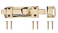 B&Q Brass Flat bolt (L)96mm