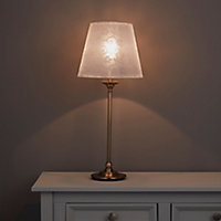 Strasbourg Nickel effect Incandescent Table lamp