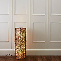 Plymouth Brown & cream Incandescent Floor lamp