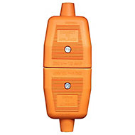 B&Q 10A Orange Switched 2 pin plug & socket