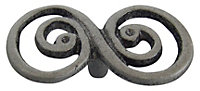 B&Q Pewter effect Twisted Furniture knob, Pack of 6