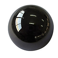 Black Nickel effect Zinc alloy Round Furniture Knob (Dia)32mm, Pack of 6