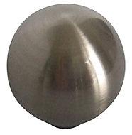 B&Q Satin Nickel effect Round Furniture knob, Pack of 6