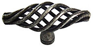 B&Q Pewter effect Caged Furniture knob, Pack of 6