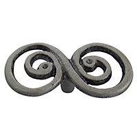 Grey Pewter effect Aluminium Round Double swirl Cabinet Knob (Dia)63.5mm