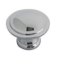 Chrome effect Zinc alloy Round Furniture Knob (Dia)29.7mm