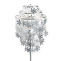 Kyra Silver Chrome effect Floor lamp
