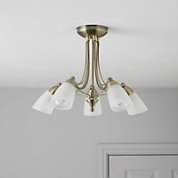 Venus Brushed Gold effect 5 Lamp Ceiling light