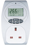 B&Q 13A 1 gang Temperature controlled adaptor