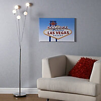 Amberley White Chrome effect Floor lamp