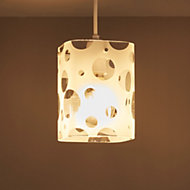 Bubbles Clear Etched cube Light shade (D)142mm