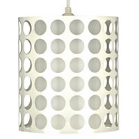 Holey Chrome effect Cylinder Light shade (D)205mm