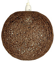 Abaca Chocolate Twine Light shade (D)280mm
