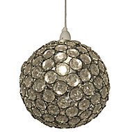 Zoe Clear Crystal effect Beaded Light shade (D)240mm