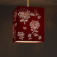 Colours Beryl Claret Floral laser cut Light shade (D)810mm
