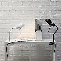 Colours Tutti Goose neck Black Incandescent Clip-on desk lamp