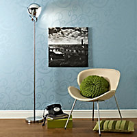 Lights Collection Bobo Chrome effect Incandescent Floor lamp