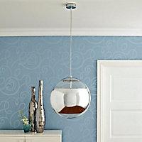 Reflex Chrome effect Pendant Ceiling light