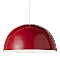 Colours Cupola Red Light shade (D)450mm