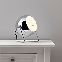 Colours Bobo Chrome effect Incandescent Table lamp