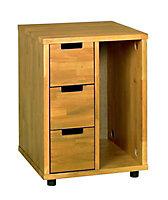 Washington Deep stained Under-desk pedestal (H)670mm (W)500mm (D)500mm