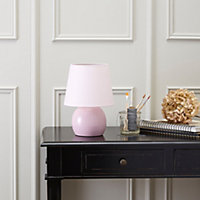Ava Pink Incandescent Table lamp